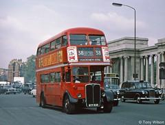 KYY533 London Transport LTE RT 1706 (theroumynante) Tags: kyy533 london transport lte rt 1706 aec regent hyde park corner bus buses doubledeck road halfcab rearplatform openback