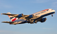 G-XLEL - Airbus A380-841 - LHR (Seán Noel O'Connell) Tags: britishairways ba speedbird gxlel airbus a380841 a380 heathrowairport heathrow lhr egll sin wsss 27r ba11 baw11 aviation avgeek aviationphotography planespotting