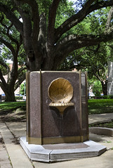 Drinking Fountain (photographyguy) Tags: louisiana shreveport drinkingfountain water sidewalk shell tree liveoak
