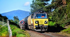 70802 @ Lynchat (A J transport) Tags: class70 diesel 70802 colas rail freight highlandmainline cement railway trains scotland