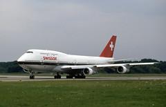 HB-IGC. Swissair Boeing 747-357 (Ayronautica) Tags: hbigc swissair boeing747357 b743 1990 august zrh lszh zurich airliner scanned aviation ayronautica
