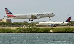 American Airlines A321 ~ N150UW (© Freddie) Tags: aruba airbus americanairlines aa oranjestad a321 renaissanceisland n150uw aua tnca fjroll tncaaua ©freddie delta b757 b752 n557nw