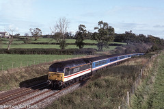 Inter-City on the Mule - 1992 (Kernow Rail Phots) Tags: 478 intercity stowell livery 0858 class47 47833 railroad trees rural train fence countryside coach october br farm sunday scenic rail railway sunny trains 18th waterloo exeter fields mk2 1992 passenger railways aircon britishrail 1990s coaches mule nse exeterstdavids networksoutheast mk2d 18101992 city inter duff 13575 nsemk2d