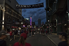 At Night, Outside Fenway (brucetopher) Tags: redsox baseball mlb majorleague fenway park fenwaypark boston toronto historic stadium grandstand seating seats chair number numbered emptyseats blue red redwhiteandblue redwhiteblue american field ballpark player play passtime pasttime game contest sox playball ball ballplayer baseballplayer ballfield baseballdiamond baseballfield diamond bigdiamond americasfavoritepastime sports fens fen greenmonster greenmonstah monstahdirtywater sweetcaroline green summer antique old nigel