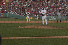 Brasier on the Mound (brucetopher) Tags: redsox baseball mlb majorleague fenway park fenwaypark boston toronto historic stadium grandstand seating seats chair number numbered emptyseats blue red redwhiteandblue redwhiteblue american field ballpark player play passtime pasttime game contest sox playball ball ballplayer baseballplayer ballfield baseballdiamond baseballfield diamond bigdiamond americasfavoritepastime sports fens fen greenmonster greenmonstah monstahdirtywater sweetcaroline green summer antique old nigel