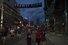 At Night, Outside Fenway (brucetopher) Tags: redsox baseball mlb majorleague fenway park fenwaypark boston toronto historic stadium grandstand seating seats chair number numbered emptyseats blue red redwhiteandblue redwhiteblue american field ballpark player play passtime pasttime game contest sox playball ball ballplayer baseballplayer ballfield baseballdiamond baseballfield diamond bigdiamond americasfavoritepastime sports fens fen greenmonster greenmonstah monstahdirtywater sweetcaroline green summer antique old nigel man woman people street streets city road walk walking fan fans tourist vacation holiday