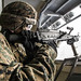 U.S. Marines conduct live-fire training aboard the USS Boxer