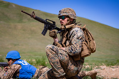 A U.S. Marine participates in a Khaan Quest 2019 training event (#PACOM) Tags: khaanquest kq19 unitednations pacific indopacific peacekeeping security mongolia ulaanbaatar usmc 3rdlawenforcementbattalion 3dle