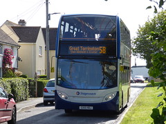 15600 on the 5B diversion (DGPhotography1999) Tags: 15600 gx10hbj scania stagecoach stagecoachsouthwest stagecoachsouth doubledeckerbus fremington