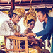 BALI, INDONESIA - APRIL 13, 2018: Newlyweds on balinese wedding ceremony. Traditional wedding.