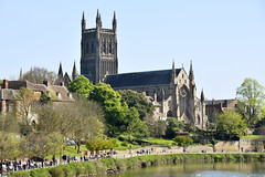The River Severn & Cathedral, Worcester 20/04/2019 (Gary S. Crutchley) Tags: cathedral church of christ and the blessed mary virgin worcester worcestershire river severn days out sun spring city uk great britain england united kingdom nikon d800 raw travel