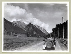 """1930s (Vintage Cars & People) Tags: road trip white black classic cars car vintage photography photo thirties 1930s automobile foto tour country sw motor countryroad 30s outing excursion """"blackwhite"""" coubtryside sky clouds opel tourer summer summertime holiday vacances holidays urlaub ferien 840ps"""