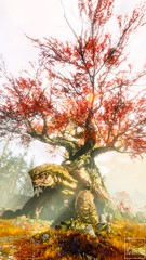 The Witch's House (ilikedetectives) Tags: godofwar gow forest nature tree flowers norsemythology turtle fantasy mythology sony playstation ps4 screenshot gaming gamecaptures game ingamephotography videogames virtualphotography scenery