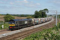 66779 27-06-19 (IanL2) Tags: gbrf class66 66779 eveningstar wellingborough railways trains mml northamptonshire aggregates