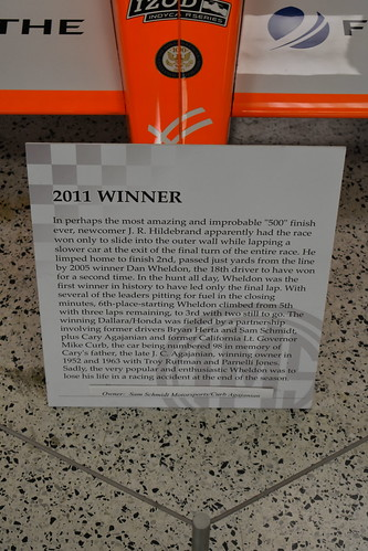 Info on the 2011 Indy 500 Winner