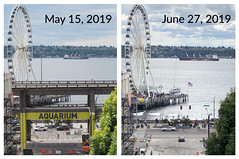 Before and after viaduct demolition at Union Street (WSDOT) Tags: seattle gp construction wsdot alaskan way viaduct replacement demolition 2019 union street before after