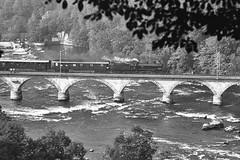 SBB A3/5 705 Neuhausen Rheinbrücke, 125 Jahre SBB Jubiläum Oktober 1972 (swissuki) Tags: sbb sbbjubiläum a35 dampflokomotive 1972 steamengine switzerland
