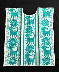 Mazatec Huipil Oaxaca Mexico Textiles (Teyacapan) Tags: mazatec oaxaca mexico huipiles jalapadediaz goats embroidered ropa clothing textiles