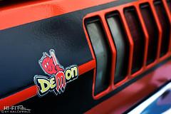 Demonic (Hi-Fi Fotos) Tags: 70s mopar dodge demon decal devil cartoon vintage american classiccar badge tail detail nikkor 50mm nikon d7200 dx hififotos hallewell