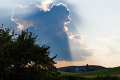 Deliverence (trochford) Tags: deliverance sky cloud cumulus dramatic ominous sun rays light farm fields scenic landscape countryside evening pullman pullmanwa pullmanwashington washington palouse inlandnorthwest us usa unitedstates canon canon6d ef24105mmf4lisusm ef24105