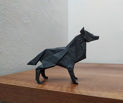 Wolf (Lê Huỳnh Đức) Tags: origami wolf paper art papersculpture