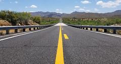 (BCooner) Tags: arizona az96 desert explore santamariavalley yellowstripe highway road straightroad distanthills