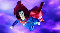 SUPERMAN Takes to the sky (custombase) Tags: dc justiceleague movie figures mafex clone superman manofsteel clark kent flight toyphotography