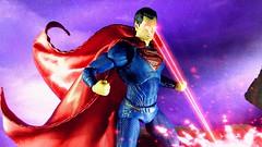 Defender of Metropolis (custombase) Tags: dc justiceleague movie mafex clone figures superman manofsteel clark kent heatvision toyphotography