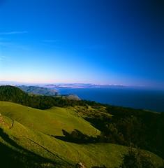 San Francisco, From Mt. Tamalpais, CA (pirate-manners) Tags: sanfrancisco marin tamalpais tam landscape rollei rolleiflex sl66 fujifilm velvia california westcoast sutrotower