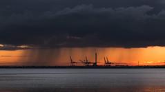 Rain on port (RP Major) Tags: port melboune rain storm clouds fujixt30 landscape sunset phillip bay