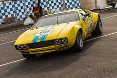Yellow :) (uluqui) Tags: canon 6d car motorsport motor race sport classic legend racing historic circuit france automotive automobile racecar vintage peterauto dijon dijonprenois motion speed paddock pitlane yellow