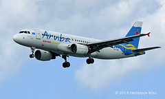 Aruba Airlines A320 ~ P4-AAH (© Freddie) Tags: aruba oranjestad surfsidebeach arubaairlines airbus a320 p4aah named efrain aua tnca tncaaua fjroll ©freddie