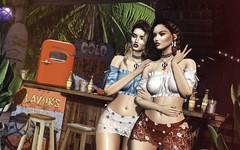 Cool for Summer (desiredarkrose) Tags: summer girls doux deaddollz summerfest19 dahlia thor kirin lagyo lelutka glamaffair korina sl secondlife goodvibes