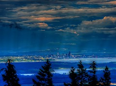 Seattle at Dusk (George Stenberg Photography) Tags: washingtonstate seattle sunset clouds pacificnorthwest