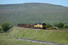 Trunk Route (Callum Nicolson) Tags: colas class 70 70801 6j37 ribblelehead settle carlisle chirk logs viaduct whernside