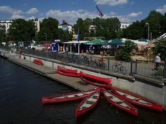 Stadthafen Leipzig (ingrid eulenfan) Tags: leipzig stadthafen wasserstadt elstermühlgraben kanu gastronomie ausflugsziel wasser