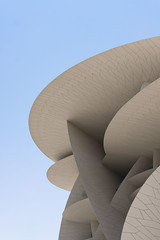 National Mueseum of Qatar Part III (Leon Sammartino) Tags: qatar doha mueseum national sail architecture modern contemporary travel middle east summer white sails desert rose fujifilm xmount