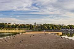 Lago de Pradolongo (2) (lebeauserge.es) Tags: madrid usera parque pradolongo lago agua atardecer cielo nubes