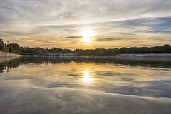 Lago de Pradolongo (3) (lebeauserge.es) Tags: madrid usera parque pradolongo lago agua atardecer cielo nubes
