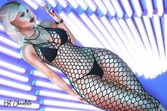 Look 04 ♥♥♥ AMIAS ♥ MON CHERI ♥ TEMPTATION STORE  ♥♥♥ New Releases!!! (hot_chocolate7) Tags: sl secondlife mesh 3d body maitreya catwa ciara girl neon dress piercing temptation belly gift moncheri formanails amias littlebones spotcat rings necklace hair blondie