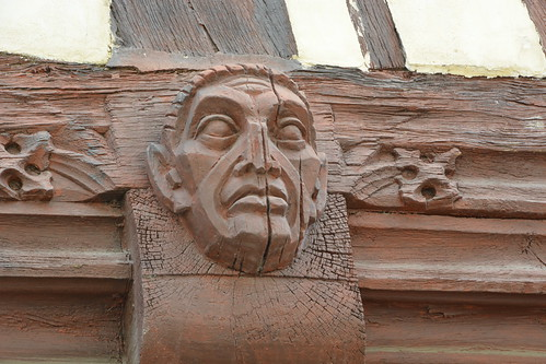 Wood Carving, Old Coffee House, Vernon, France_0644
