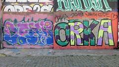 Orka / Bruxelles - 27 jun 2019 (Ferdinand 'Ferre' Feys) Tags: bxl brussels bruxelles brussel belgium belgique belgië streetart artdelarue graffitiart graffiti graff urbanart urbanarte arteurbano ferdinandfeys