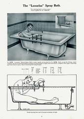 Luxurius Spray Bath. Morrison Ingram & Co. (growlerthecat) Tags: bathrooms bath catalogue tradecatalogue manchester morrisoningram shower
