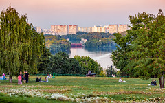 There, across the river... (Kolomenskoye, Moscow, Russia) (KonstEv) Tags: river landscape moscow kolomenskoye russia bank house building summer evening trees коломенское москва россия шлюз река лето вечер
