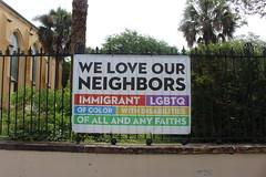 Unitarian Church Charleston fence banner (MJRGoblin) Tags: southcarolina charleston church 2019 charlestoncounty