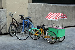 tiny miracles (andrevanb) Tags: bike icecream miniature new vintage shop amsterdam toy summer fiets ijscoman tiny 10cm doorsill