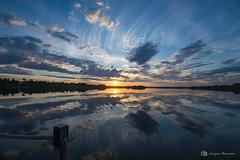 Lever de soleil 28 juin 2019 (jackbeau) Tags: 2019 heurebleue juin lacmiroir leverdesoleil miroir nuages nuagesoranges nuagesrouges osisko reflets