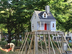 east of eden (andrevanb) Tags: amsterdam art miniature model house wood roof chimney ground politics money paradiso paradise