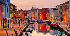 burano sunset (poludziber1) Tags: burano venice italy sunset reflections canal matchpointwinner mpt726 matchpointchampion