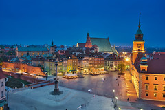Varsóvia Old Town & Blue Hour (Luís Henrique Boucault) Tags: architecture attraction building capital castle cathedral church city cityscape colorful construction culture dusk europe european evening famous historical illuminated illumination landmark landscape monument night nobody old outdoors palace panorama plac poland polish royal scenic sky square stone street summer sunrise sunset tourism town travel twilight urban view warsaw warszawa zamkowy